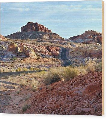 Nevada Rocks 1b Wood Print