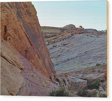 Nevada Rocks 2 Wood Print