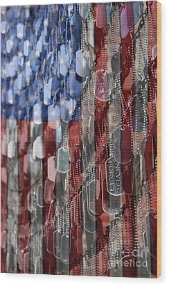Wood Print featuring the photograph Never Forget American Sacrifice by DJ Florek