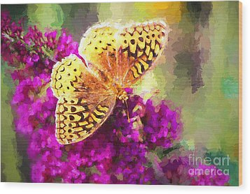Never Hide Your Wings Wood Print
