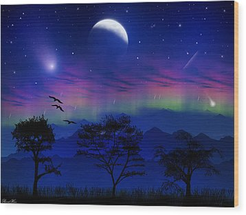 Wood Print featuring the photograph Neverending Nights by Bernd Hau