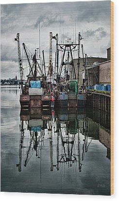 New Bedford Waterfront No. 1 - Color Wood Print by David Gordon