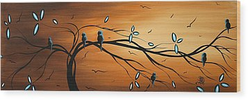 New Bloom By Madart Wood Print by Megan Duncanson