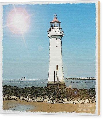 New Brighton Lighthouse Wood Print