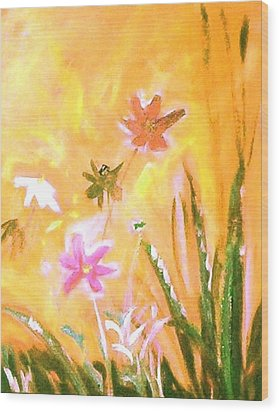 New Daisies Wood Print by Winsome Gunning