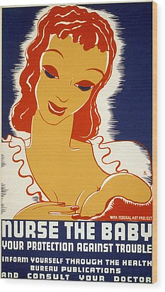 New Deal: Wpa Poster, 1936 Wood Print by Granger