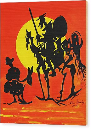 New Don Quixote Wood Print