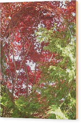 New England Autumn Globe Wood Print by Kristine Nora