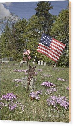 New England Graveyard Wood Print by Erin Paul Donovan