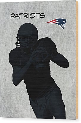 New England Patriots Football Wood Print by David Dehner