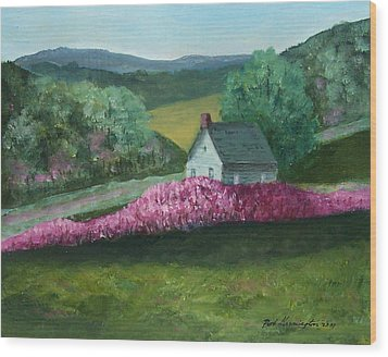 New England Spring Wood Print