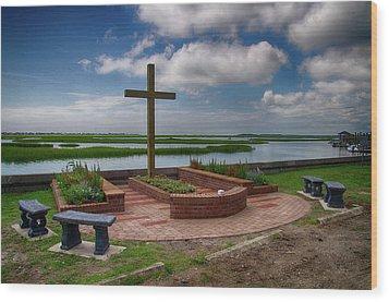 Wood Print featuring the photograph New Garden Cross At Belin Umc by Bill Barber