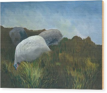 New Guinea Fowl Wood Print