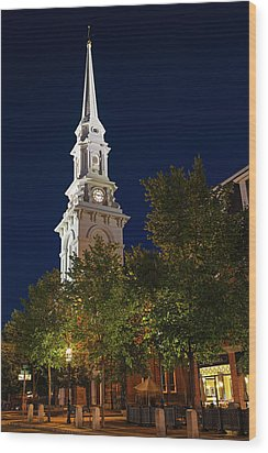 Wood Print featuring the photograph New Hampshire Portsmouth North Church by Juergen Roth