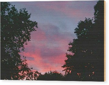Wood Print featuring the digital art New Hampshire Sunset by Barbara S Nickerson