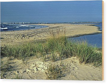 Wood Print featuring the photograph New Jersey Inlet  by Sally Weigand