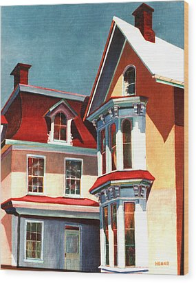 New Light On The Past Wood Print by Robert Henne