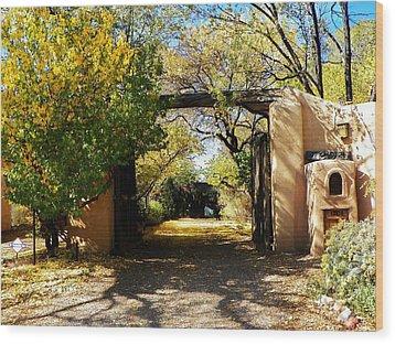 New Mexico Adobe Wood Print