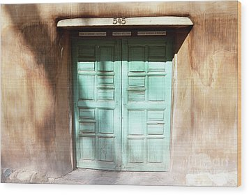 Wood Print featuring the photograph New Mexico Dreamy Rustic Door by Andrea Hazel Ihlefeld