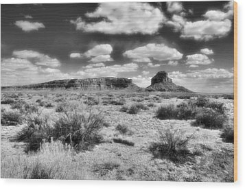 Wood Print featuring the photograph New Mexico by Jim Walls PhotoArtist