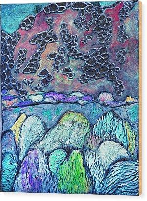 New Mexico Landscape Wood Print by Wayne Potrafka