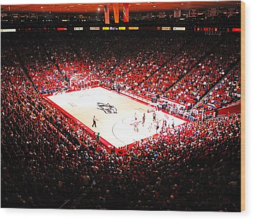 New Mexico Lobos University Arena Wood Print by Replay Photos