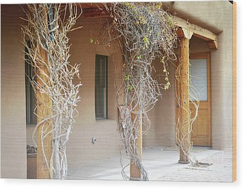 Wood Print featuring the photograph New Mexico Rustic Country Porch by Andrea Hazel Ihlefeld