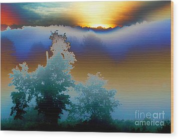 Wood Print featuring the photograph New Morning Light by Jesse Ciazza