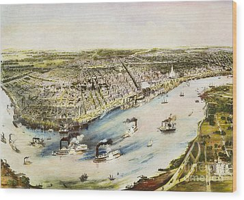 New Orleans, 1851 Wood Print by Granger
