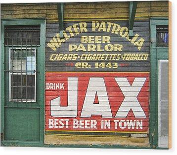 New Orleans Beer Parlor Wood Print