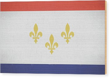 Wood Print featuring the digital art New Orleans City Flag by JC Findley