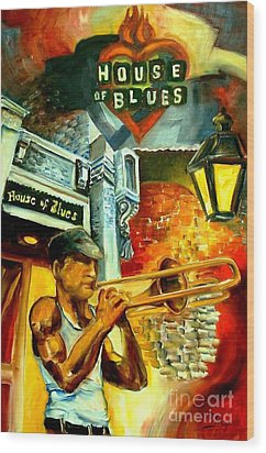 New Orleans' House Of Blues Wood Print by Diane Millsap
