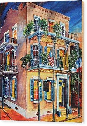New Orleans' La Fitte's Guest House Wood Print by Diane Millsap