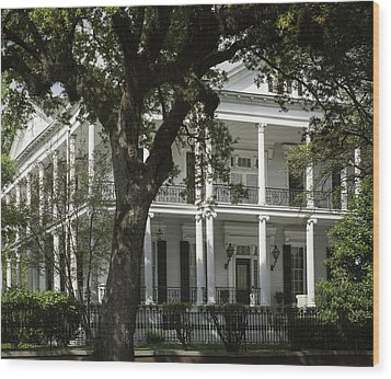 New Orleans Mansion Wood Print by Anne Witmer