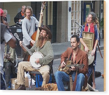 New Orleans Musicians Wood Print