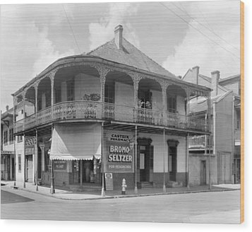 New Orleans Pharmacy Wood Print by The Granger Collection