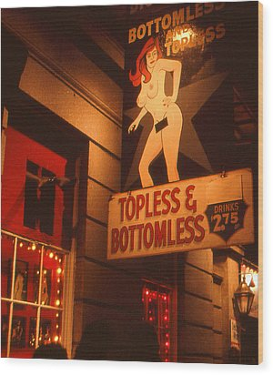 New Orleans Topless Bottomless Sexy Wood Print