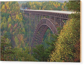 New River Gorge Bridge Wood Print by Steve Stuller