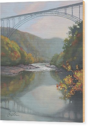 New River Gorge Wood Print by Todd Baxter