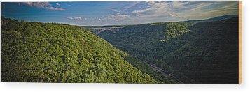New River Panoramic Wood Print