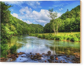 New River Summer Wood Print by Dale R Carlson