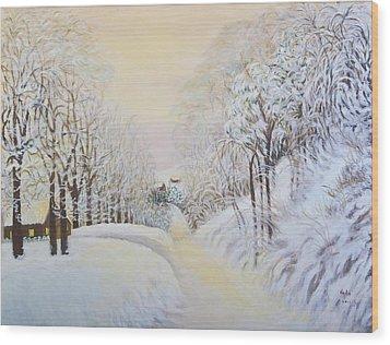 New Snow In Hunting Hills Wood Print by Douglas Ann Slusher