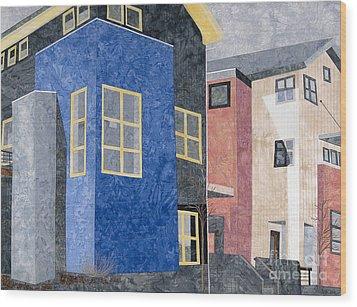 New Urbanism Wood Print by Carol Ann Waugh