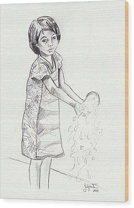 New Water Wood Print by John Keaton