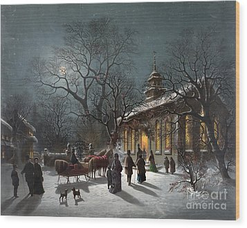 New Years Eve, C1876 Wood Print by Granger