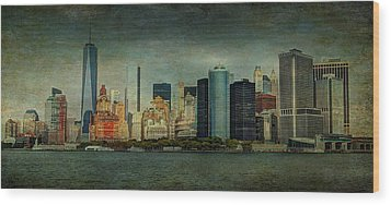Wood Print featuring the mixed media New York After Storm by Dan Haraga