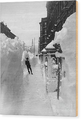 New York: Blizzard Of 1888 Wood Print by Granger