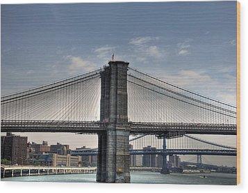 New York Bridges Wood Print by Kelly Wade