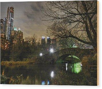 New York - Central Park 006 Wood Print by Lance Vaughn