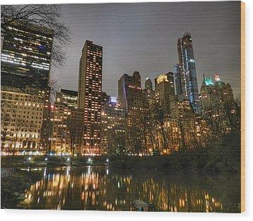 New York - Central Park 007 Wood Print